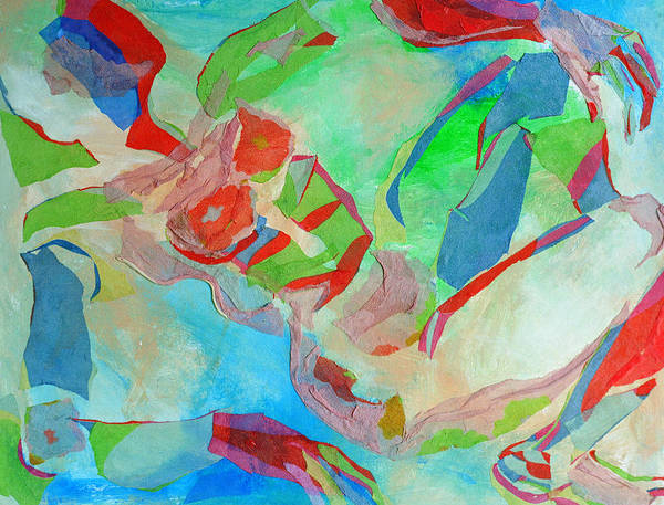 Floating Woman Poster featuring the mixed media Repose by Diane Fine