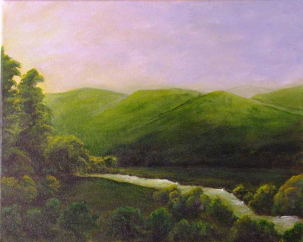Landscape Poster featuring the painting Rest by Lisa Kaye