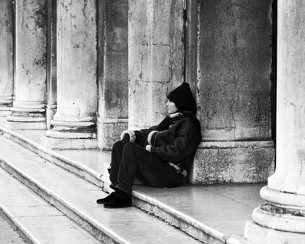 Resting At St. Mark's Square Poster featuring the photograph Resting At St. Mark's Square by John Rizzuto