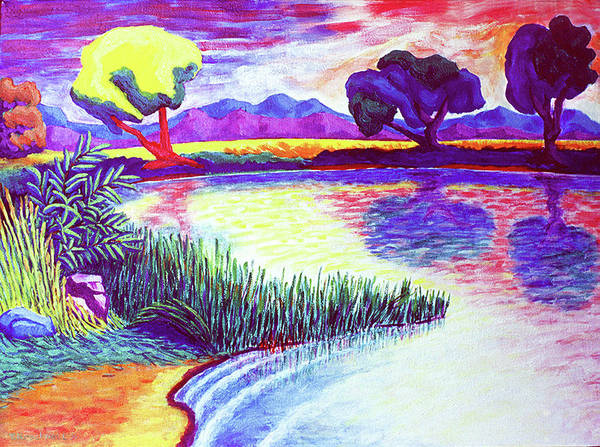 Landscape Poster featuring the painting Return To Morgan's Pond by Terrie Rockwell