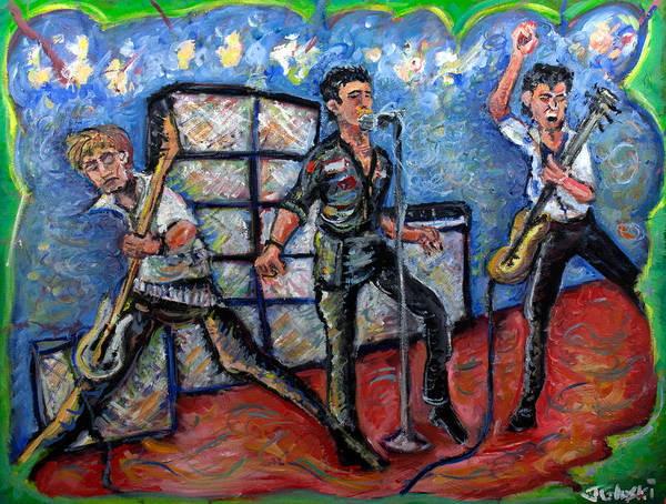 The Clash Poster featuring the painting Revolution Rock The Clash by Jason Gluskin