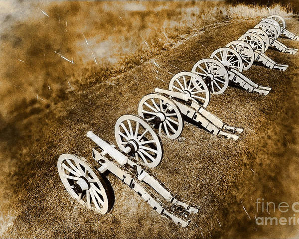 Cannon Poster featuring the photograph Revolutionary War Cannons by Olivier Le Queinec