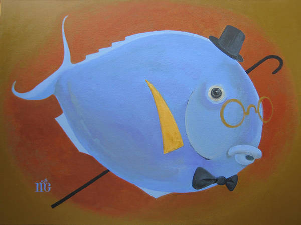 Animals Poster featuring the painting Rhapsody In Blue by Marina Gnetetsky