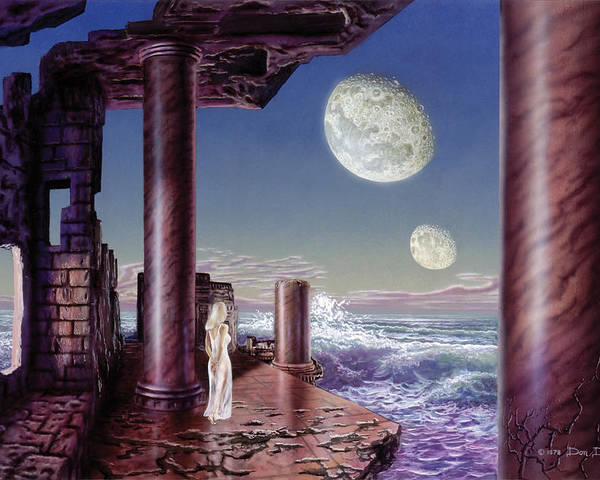 Science Fiction Poster featuring the painting Rhiannon by Don Dixon