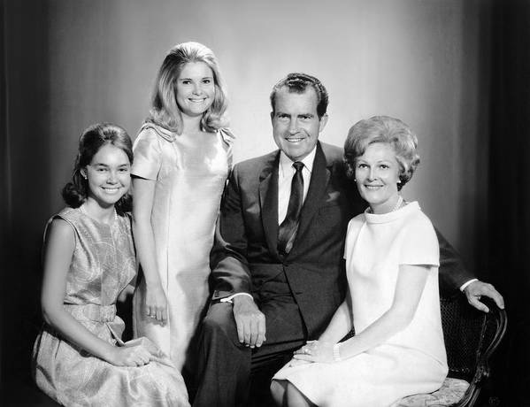 Richard Nixon And Family Poster By Underwood Archives