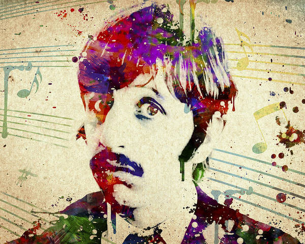 Ringo Starr Poster featuring the digital art Ringo Starr by Aged Pixel