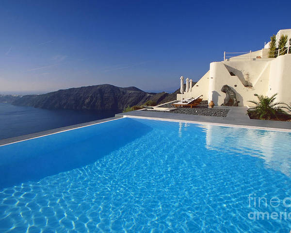 Santorini Poster featuring the photograph Ripples by Aiolos Greek Collections