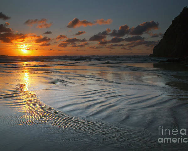 Hug Point Poster featuring the photograph Ripples On The Beach by Mike Dawson