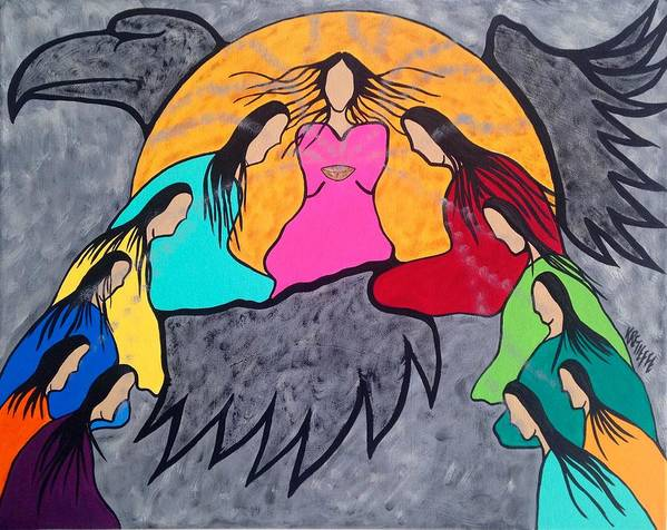 Mi'kmaq Poster featuring the painting Rise by Krystle Retieffe