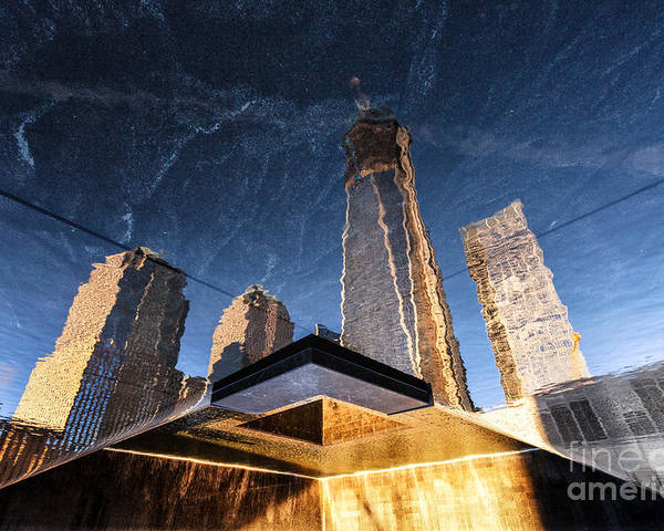 World Trade Centre Poster featuring the photograph Rising Up by John Farnan