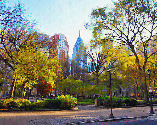 Rittenhouse Poster featuring the photograph Rittenhouse Square In The Spring by Bill Cannon