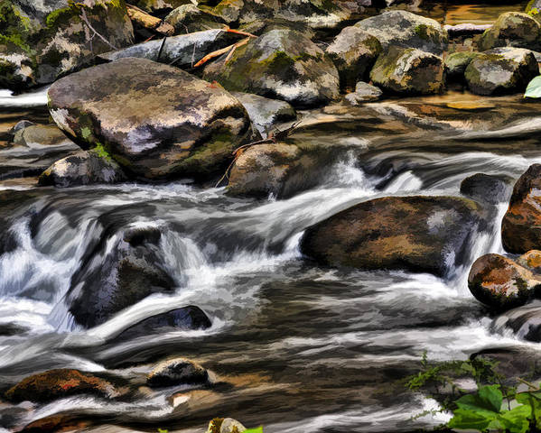 Rivers Poster featuring the photograph River And Rocks by Harry B Brown