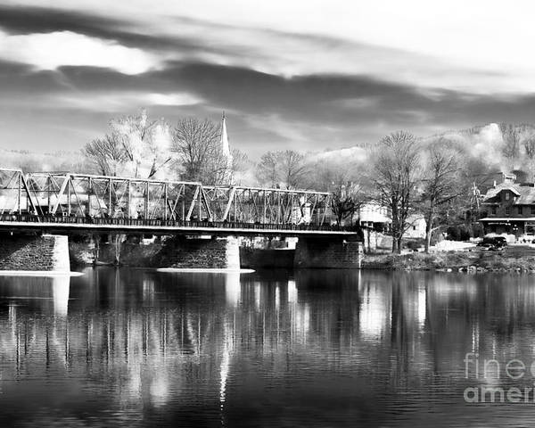 River View In New Hope Poster featuring the photograph River View In New Hope by John Rizzuto