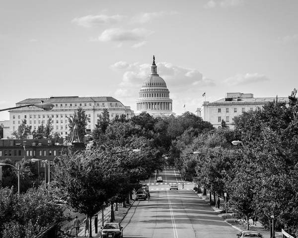 Washington D.c. Poster featuring the photograph Road to the Capital by Ryan Routt