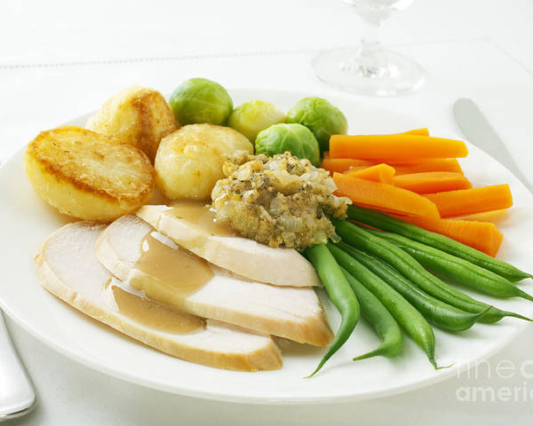Chicken Poster featuring the photograph Roast Chicken Dinner by Colin and Linda McKie