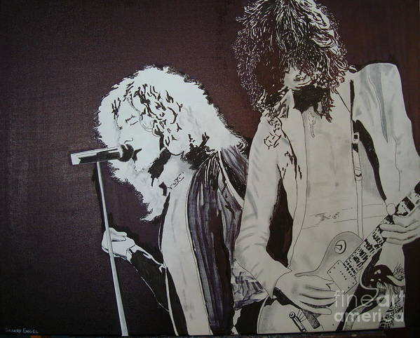 Led Zeppelin Poster featuring the painting Robert And Jimmy by Stuart Engel