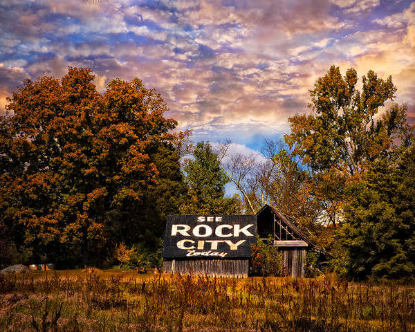American Poster featuring the photograph Rock City Barn by Debra and Dave Vanderlaan