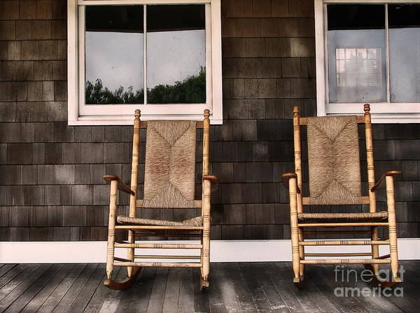 Rocking Chairs Poster featuring the photograph Rock On by Colleen Kammerer