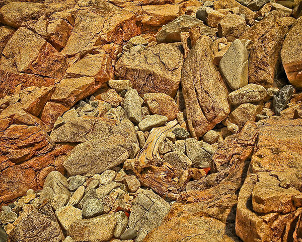 Rocks Poster featuring the photograph Rock Texture by PMG Images