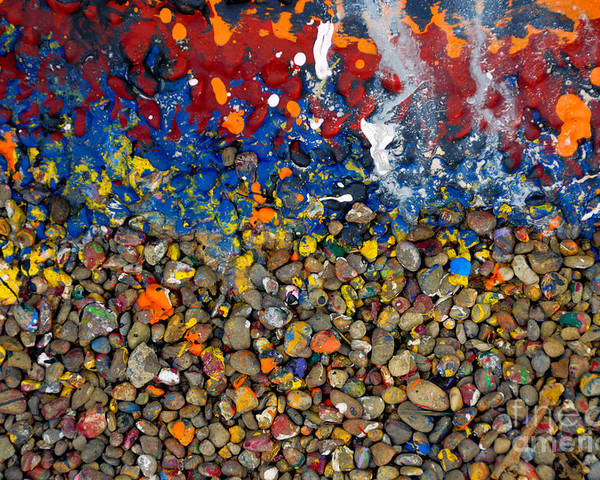 Abstract Poster featuring the photograph Rocks Splattered With Paint by Amy Cicconi