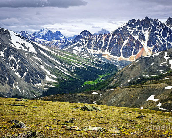 Mountains Poster featuring the photograph Rocky Mountains In Jasper National Park by Elena Elisseeva