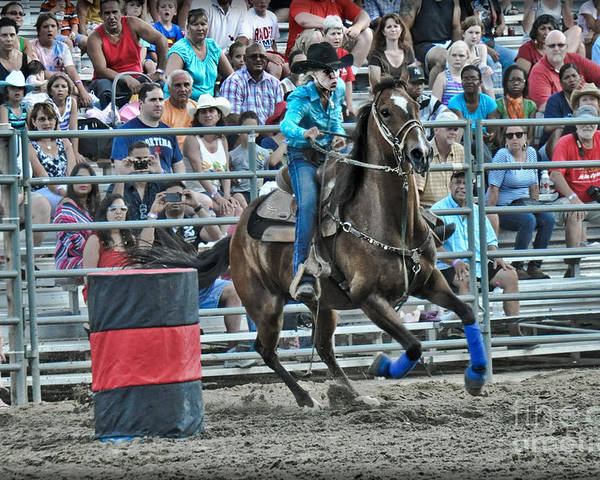 Competition Poster featuring the photograph Rodeo Cowgirl by Gary Keesler