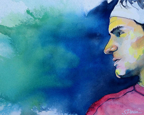 Roger Federer Poster featuring the painting Roger by Scott Parker
