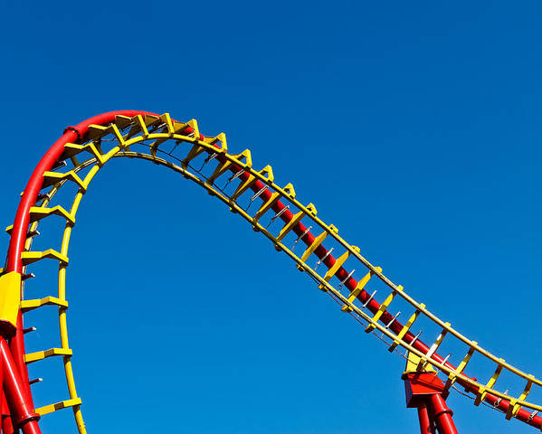 Amusement Poster featuring the photograph Roller Coaster Curve by Stephan Stockinger
