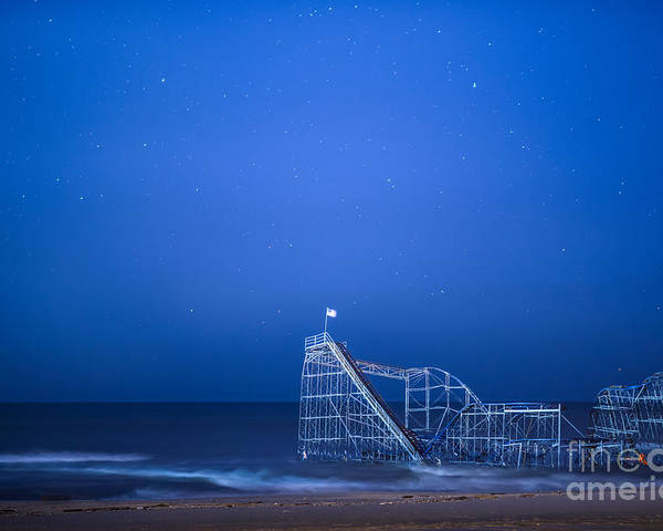 Starjet Poster featuring the photograph Roller Coaster Stars by Michael Ver Sprill