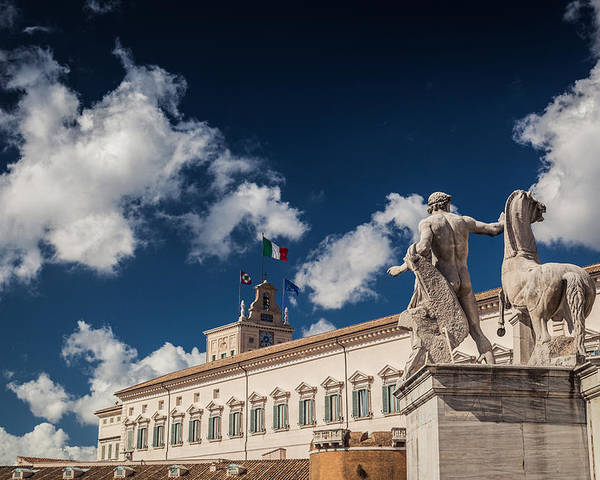 Artistic Poster featuring the photograph Rome Monuments by Alex Anashkin