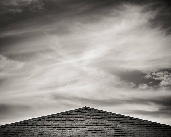 Rooftop Sky Poster featuring the photograph Rooftop Sky by Darryl Dalton