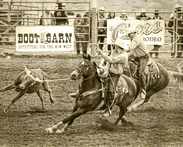 Rodeo Poster featuring the photograph Roping by Caitlyn Grasso