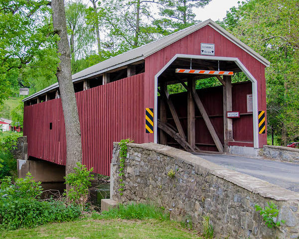 Bridges Poster featuring the photograph Rosehill Covered Bridge by Guy Whiteley