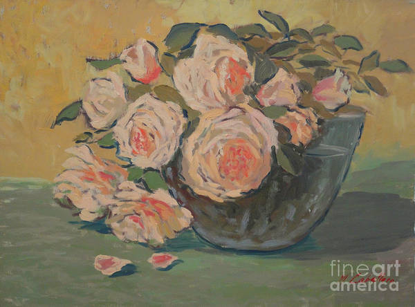 Still Life Arrangements Poster featuring the painting Roses II by Monica Caballero