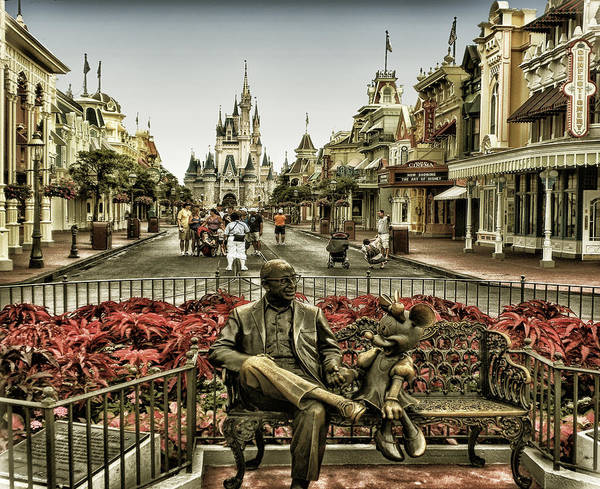 Magic Kingdom Poster featuring the photograph Roy And Minnie Mouse Antique Style Walt Disney World by Thomas Woolworth