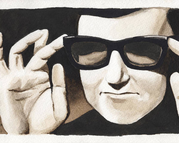Prison Paintings Poster featuring the painting Roy Orbison by David Shumate