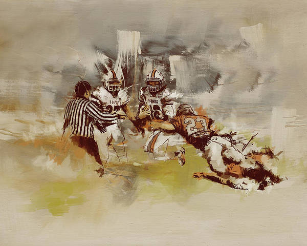 Sports Poster featuring the painting Rugby by Corporate Art Task Force
