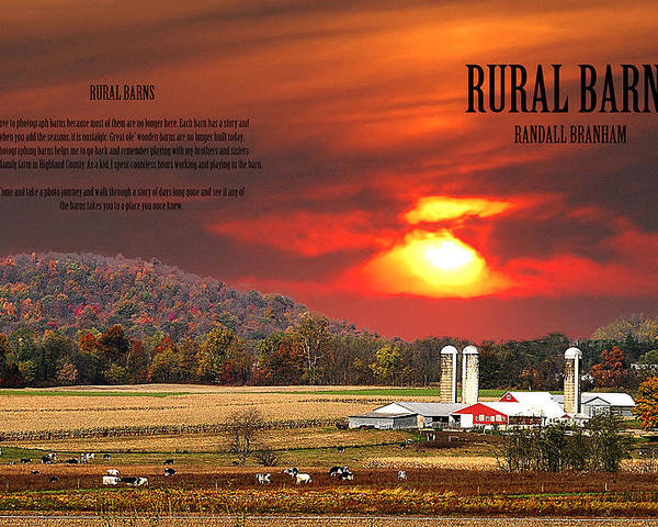 Rural Barns Poster featuring the photograph Rural Barns My Book Cover by Randall Branham