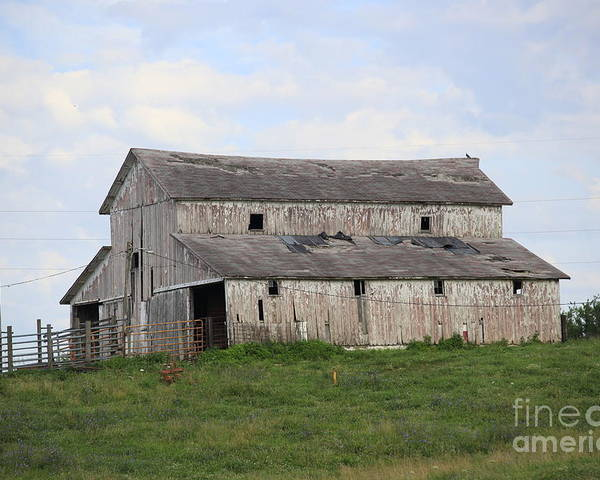 Barn Poster featuring the photograph Rural Moravia by Anthony Cornett
