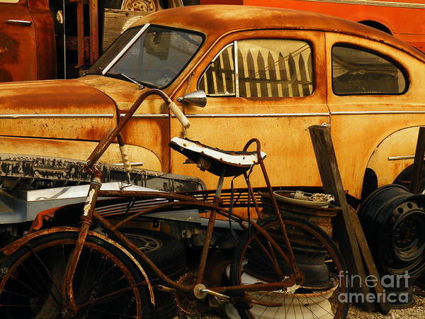 Junkyard Poster featuring the photograph Rust Race by Joe Jake Pratt