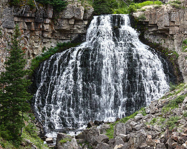 Rustic Falls Poster featuring the photograph Rustic Falls by Shane Bechler