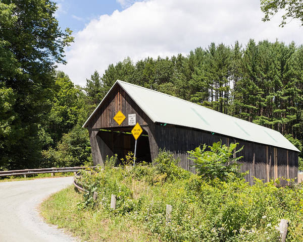 Architecture Poster featuring the photograph Rustic Vermont Covered Bridge by John M Bailey