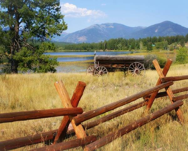 Landscape Poster featuring the photograph Rustic Wagon by Marty Koch