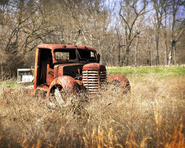 Truck Poster featuring the photograph Rusting Away by Marty Koch