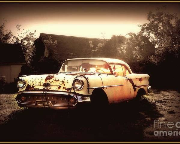 Oldsmobile Poster featuring the photograph Rusty Oldsmobile by Beth Ferris Sale