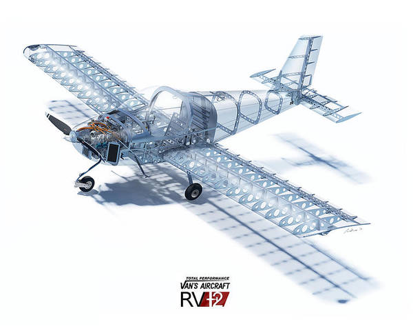 Corsair Airplane Cutaway Poster Aviation Color