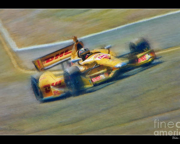 Ryan Hunter-reay Poster featuring the photograph Ryan Hunter-reay by Blake Richards