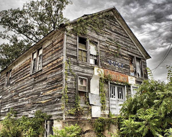 Rustic Poster featuring the photograph Saddle Store 1 Of 3 by Jason Politte
