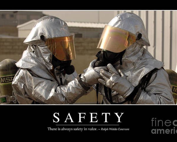 Horizontal Poster featuring the photograph Safety Inspirational Quote by Stocktrek Images