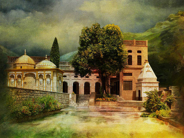 Pakistan Poster featuring the painting Saidpur Village by Catf